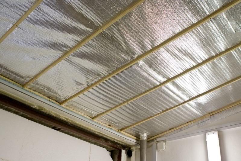 Как утеплить потолок комнаты листами пенофола