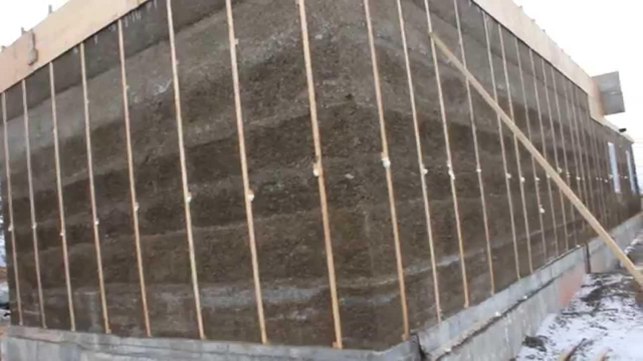 Каркас для строительства домов из монолитного арболита