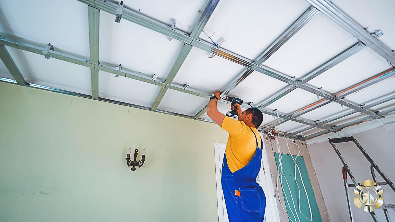 установить потолки из гипсокартона