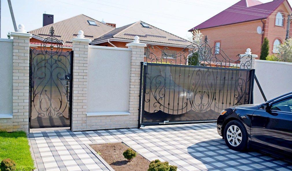 кованые гаражные ворота откатные